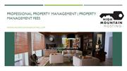 Professional Property Management | Property Management Fees