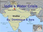 4Team India 4th period water crisis ppt