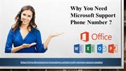 Why You Need Microsoft Support Phone Number?