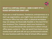 Virtual Office  Space- A Perfect Option For Startups | DesqWorx