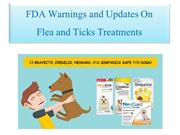 Updates on FDA Warnings about Fleas and Ticks treatments