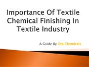 Importance of Textile Chemical Finishing in Textile industry