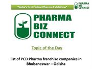 List of PCD Pharma Franchise Companies in Bhubaneswar – Odisha