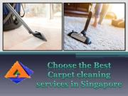 Choose the Best Carpet cleaning services in Singapore