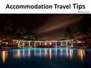 Budget Travel Accommodation Travel Tips