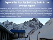 Explore the Popular Trekking Trails in the Everest Region