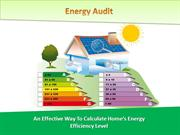 Energy Audit-An Effective Way to Calculate Home's Energy Score