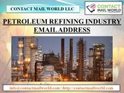 PETROLEUM REFINING INDUSTRY EMAIL ADDRESS