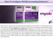 How To Configure MYOB Accounting Software
