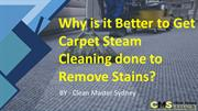 Why is it Better to Get Carpet Steam Cleaning done to Remove Stains?