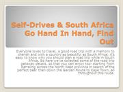 Self-Drives & South Africa Go Hand In Hand, Find Out