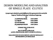 design modelling and analysis of single