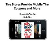 Tire Stores Provide Mobile Tire Coupons