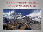 Take Pleasure from the Fascinating Journey in Annapurna Range