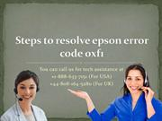 Steps to resolve epson error code 0xf1
