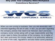 Why Does Your Company Need Workplace Compliance Services