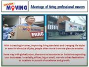 Advantage of hiring professional movers