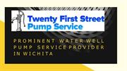 Prominent Water well pump service provider in Wichita