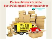 Packers Movers Provide Best Packing and Moving Services