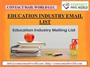 EDUCATION INDUSTRY EMAIL LIST