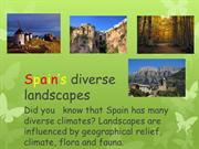 Spain's landscapes ppt 6th year REVISED