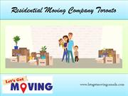 Residential Moving Company Toronto