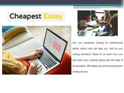 Best Professional Essay Writing Services Online – Cheapest Essay