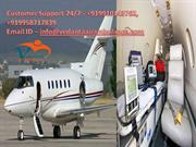 Rapid Emergency by Vedanta Air Ambulance Guwahati with Expert Paramedi