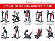 Gym Equipment Manufacturers in India