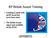 British Accent Training for iPad