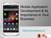 Importance of Mobile App Development in Busiess