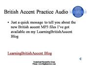 RP British Accent MP3 files