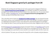 Get Cheap Grand Prix Packages Call 0207-112-8313