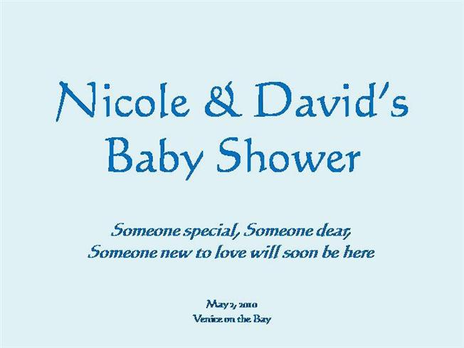 baby shower ppt