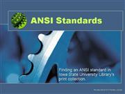 ANSI Standards Searching at ISU Library