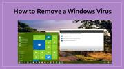 How to Remove a Windows Virus