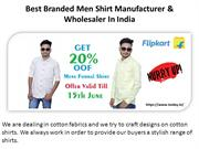 Best Branded Men Shirt Manufacturer