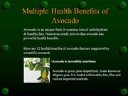 proven health benefits of avocado nutrition