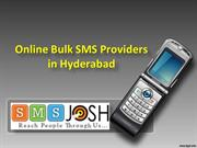 Bulk SMS in Hyderabad, Online Bulk SMS Providers in Hyderabad - SMSjos