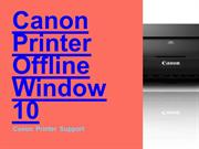 Fix Canon Printer Offline Window 10