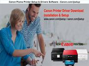 Canon Pixma Printer Setup & Drivers Software - Canon.com/ijsetup
