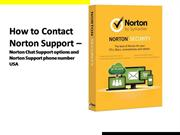 How to contact Norton