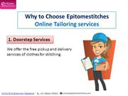Why to Choose Epitome Stitches Online Tailoring services