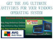 GET THE AVG ULTIMATE ANTIVIRUS FOR YOUR WINDOWS OPERATING SYSTEM