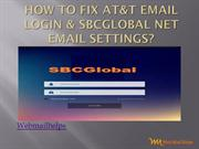 How to fix AT&T Email Login & SBCglobal