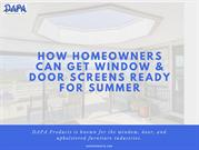How Homeowners Can Get Window & Door Screens Ready For Summer