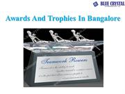 Awards And Trophies In Bangalore