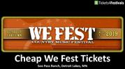 Cheap We Fest Tickets | We Fest Tickets Discount