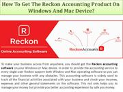 How To Get The Reckon Accounting Product On windows and mac device