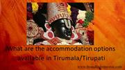 _What are the accommodation options available in Tirumala_Tirupati